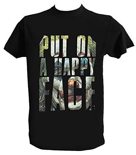 T Shirt Joker Joaquin Phoenix Herren Kinder Put on Happy face Joker 2019 Filme Tshirt, Jungen 9-11 Jahre