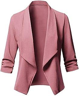 0d18f9972bdc3c Moligh doll Donne eleganti manica 3/4 signore cappotto Suit colletto della  giacca casual colore