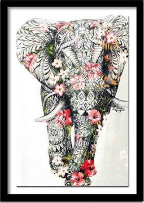 nobrand Puzzles Elefante Animale Puzzle di 1000 Pezzi dal Regalo di Compleanno di Natale di Victoria Wadfllis