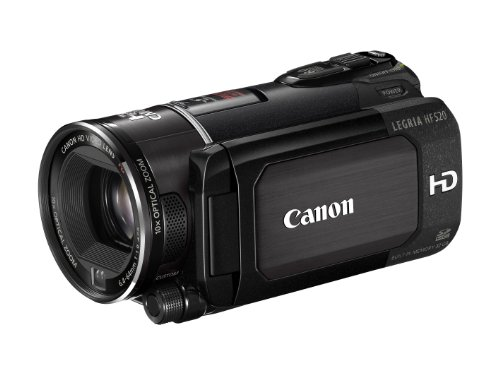Canon LEGRIA HF S20 AVCHD-Camcorder (Dual-Flash-Memory, 10-fach opt. Zoom, 8,8cm (3,5 Zoll) Display) schwarz