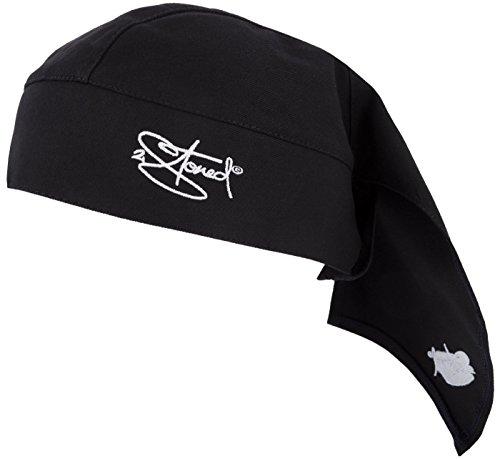 2Stoned Bandana Kopftuch Classic in Schwarz mit Stick für Damen, Herren und Kinder