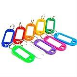 7C1468 Schlüsselanhänger, Kunststoff, leer, Namensschilder für Gepäck, Papier, verschiedene...