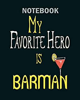 Notebook: my ? favorite hero ? is barman - 50 sheets, 100 pages - 8 x 10 inches