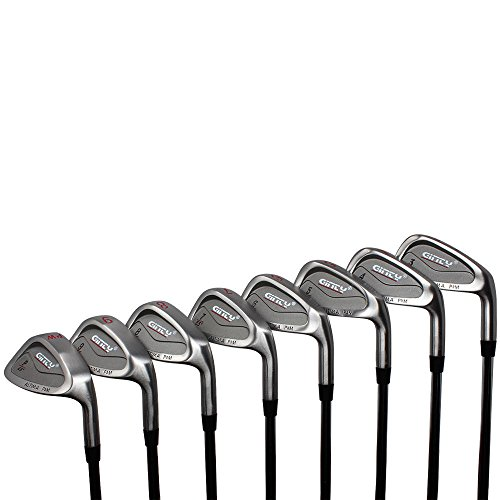Heavy Ginty Golf Clubs Altima Heavy Iron Set Complete 8-Piece XL Big & Tall Men's +2' Over Standard Length (Heavy Weighted - Extra Weight) Iron Set (3-PW) Premium Steel Shaft - Regular Flex