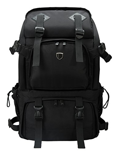 BAGSMART Anti-Theft Professional Gear Backpack for SLR/DSLR Cameras & 15' MacBook Pro with Waterproof Rain Cover, Black