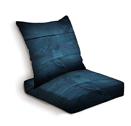 2-Piece Outdoor Deep Seat Cushion Set Dark blue background tree textured Front view with empty space Back Seat Lounge Chair Conversation Cushion for Patio Furniture Replacement Seating Cushion