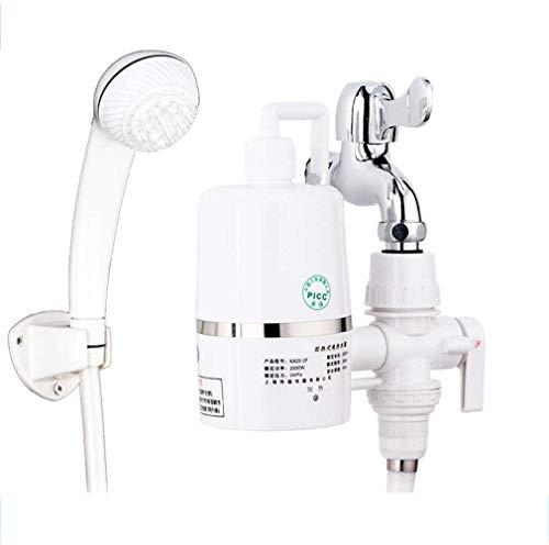 Douchekop armatuur elektrisch onmiddellijk 220V uitloop warm en koud water Gratis installatie kraan geschikt voor keuken badkamer (toepasbaar 90% kraan) Universal Universal+shower