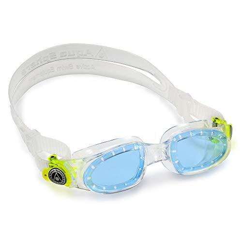 Bester der welt Aquasphere Youth Moby Kid Unisex-Schwimmbrille, klares grün / blaues Objektiv, Einheitsgröße