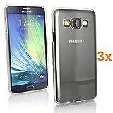 REY 3X Funda Carcasa Gel Transparente para Samsung Galaxy A5 (2015), Ultra Fina 0,33mm, Silicona TPU de Alta Resistencia y Flexibilidad
