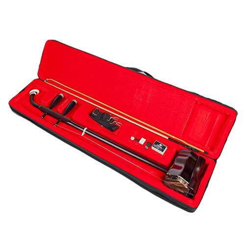 gazechimp Holz 2 String Erhu Instrument Chinesische Violine Geige Huqin mit Fall, Bow & Rosin Zubehör