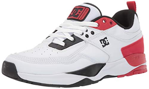 DC Women's E.TRIBEKA SE Skate Shoe, White/red/Black, 9.5 M US