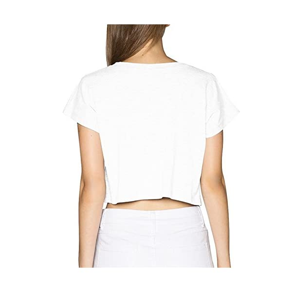 SARA NELL Women's Juniors Galaxy Unicorn Crop Top T-Shirt Tees White 5