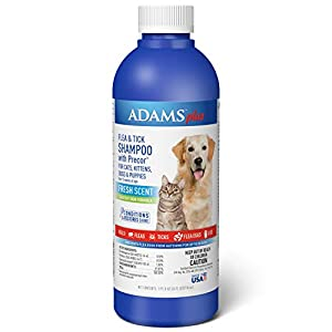 Adams Plus Flea and Tick Shampoo with Precor for Cats and Dogs, Value Pump, 24 Ounces