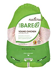 Just BARE All Natural Fresh Chicken, Whole Chicken, Without Giblets & Neck, 4.0 lb