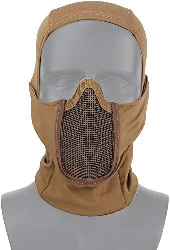 Lejie Equipo táctico Máscara de Malla de pasamontañas Transpirable Estilo Ninja Máscara de Cara Completa Airsoft Máscara a Prueba de Viento Motocicleta Ciclismo Capucha Calentador de Cuello Balaclava