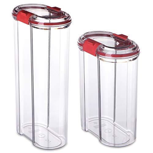Macosa TA1124 Vershouddozen, luchtdicht, BPA-vrij, veiligheidssluiting, ABSOLUT dicht, stapelbare voorraaddozen, pasta, rijst, meel, suiker