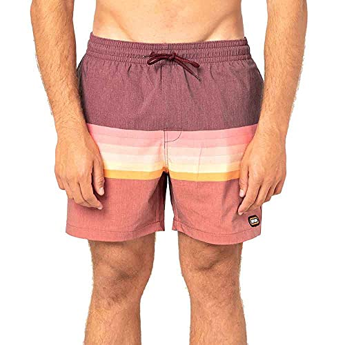 Rip Curl Layered Volley Mens Swim Shorts XX Large Washed Red