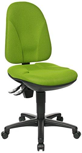 Topstar Point 35, Bürostuhl, Schreibtischstuhl, Rückenlehne höhenverstellbar, Bezugsstoff grün