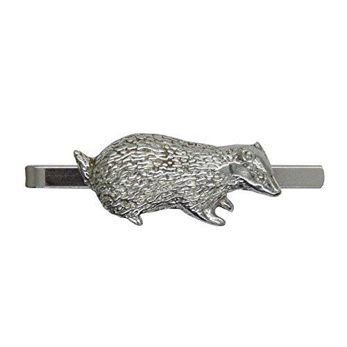 Pince à Cravate Blaireau - Fait à la Main en Etain - Fabrication Française