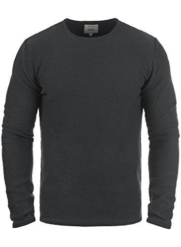 Redefined Rebel Mace Herren Strickpullover Feinstrick Pullover Mit Rundhals Aus 100% Baumwolle, Größe:L, Farbe:Antracit Grey