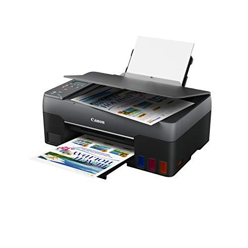 Canon PIXMA G2560 Drucker MegaTank Multifunktionsgerät nachfüllbar DIN A4 (Scanner, Kopierer, Fotodrucker, Farbtintenstrahldrucker, 4800x1200 DPI, USB, WLAN, WiFi, LC Display, Duplexdruck), schwarz