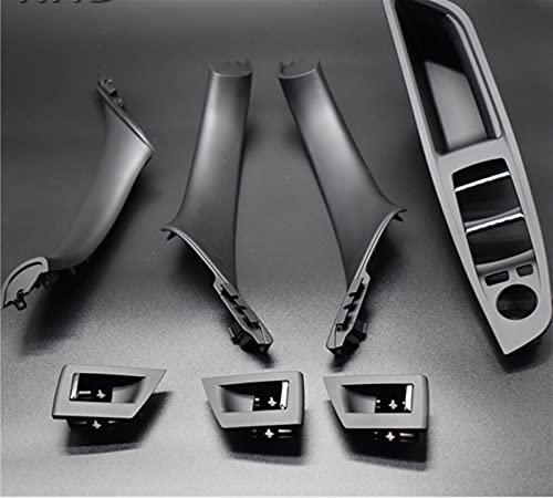 piaopiao 7 unids Conducción a la Derecha RHD Ajuste para BMW 5 Series F10 F11 520 525 Coche de Vino Interior Manija Interior Panel Interno Pull Thole Funda Babrost (Color : Red Wine)