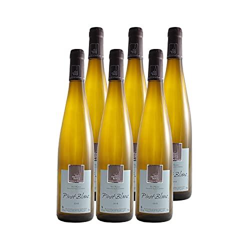 Alsace Pinot Blanc Weißwein 2018 - Domaine Christian Barthel - g.U. - Elsass Frankreich - Rebsorte Pinot Blanc - 6x75cl
