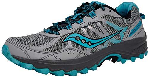 Saucony Women's Excursion TR11 Running Shoe, Grey/Blue, 7 M US