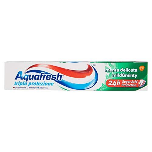 Aquafresh - Tripla Protezione, Dentifricio al Fluoro, Menta Delicata , 75 ml