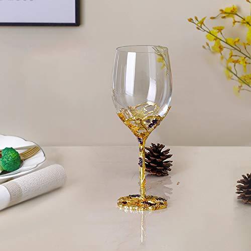 RONGXIANMA Copa de Vino 5 Piezas Esmalte de Color sin Plomo Cristal Juego de decantador de Copa de Vino Creativo Copa de Vino Alta