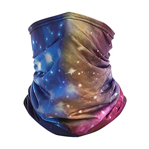 Shan-S Happy Independence Day Outdoor Sports Scarves Turban Bandana Neck Gaiter Tube Headwear Seamless Rave Face Guard for Men Women Dust Reusable Headscarf