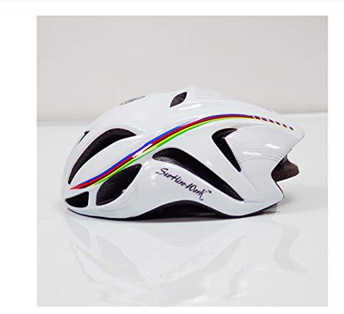 linfei Triathlon Aero Fahrradhelm Für Männer Frauen Road Timetrial Fahrradhelm Rennradhelm L (58-62Cm) C