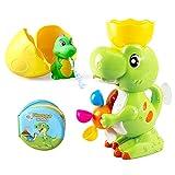 BeebeeRun Baby Bad Spielzeug Dinosaurier Badezimmer Spielzeug mit Dino Bad Buch Brunnen Dinosaurier Spielzeug Bad Spiel für Kleinkinder Kinder Jungen Mädchen 1 2 3 4 Jahre alt