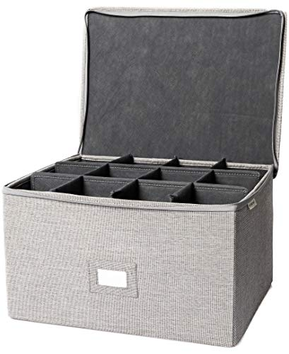 multi purpose ornament storage container with rearrangable dividers