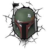 Disney Lampada Led 3Dlightfx-Star Wars Ep7 Boba Fett con Timer Lámpara 3D SW Bobba, 5 W, Multicolor, 27 x 14.5 x 32 cm