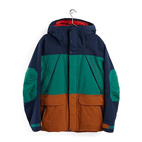 Burton Herren Snowboard Jacke Breach, Dress Blue/Antique Green/True Penny, S, 10180107401