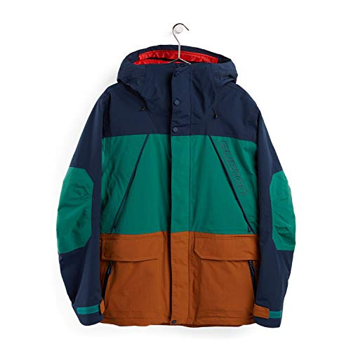 Burton Breach Giacca Da Snowboard, Uomo, Dress Blue/Antique Green/True Penny, L