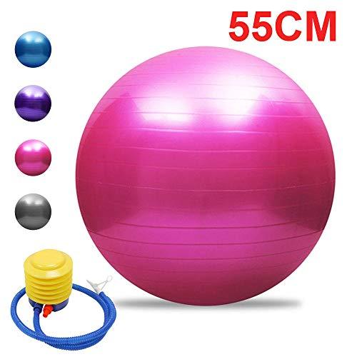 Schwangerschaft Balls,45cm/55cm/65cm/75cm mit Luftpumpe,Trainingsball FüR Zuhause, BüRo, Pilates, Yoga