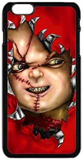FEEL.Q- Chucky Doll Personalized Protective Black TPU Rubber Phone Case Cover for iPhone 6+ 6Plus 6S Plus
