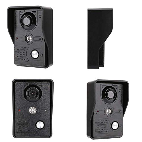NA Home 7 inch 2 Monitoren Bekabeld/Draadloos WiFi Video Deur Telefoon Deurbel Intercom Systeem met Ir-Cut Hd 1000Tvl Wired Camera Night Vision, Ondersteuning Remote App Monitor, Intercom, Ontgrendelen, Opnemen, Snapsh