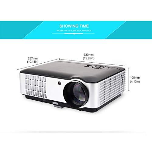 IG Proyector 3D de 2800 lúmenes: el proyector Full HD Led soporta 1080P, 50,000 Horas de Vida útil de la lámpara, Pantalla de 200 Pulgadas, proyector de Diapositivas Home/Commerce - Sistema Android