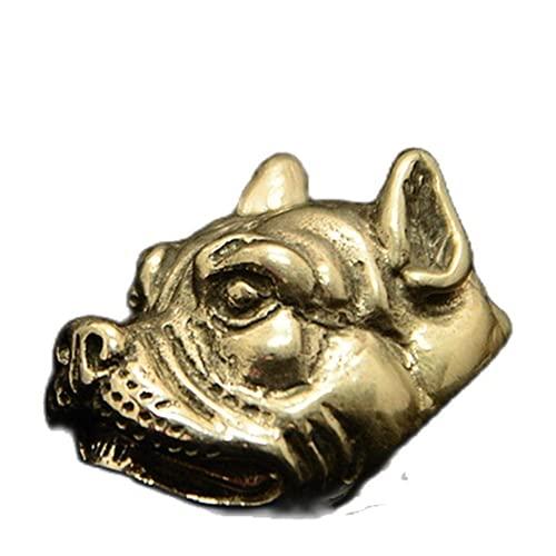 Bulldog - Botón de metal retro de latón antiguo para pantalones vaqueros de cobre y chaqueta, botón de la...