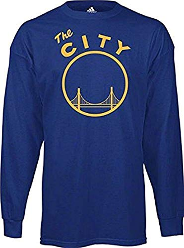 adidas Golden State Warriors Vintage The City Royal Blue T Shirt Long Sleeve (XL)