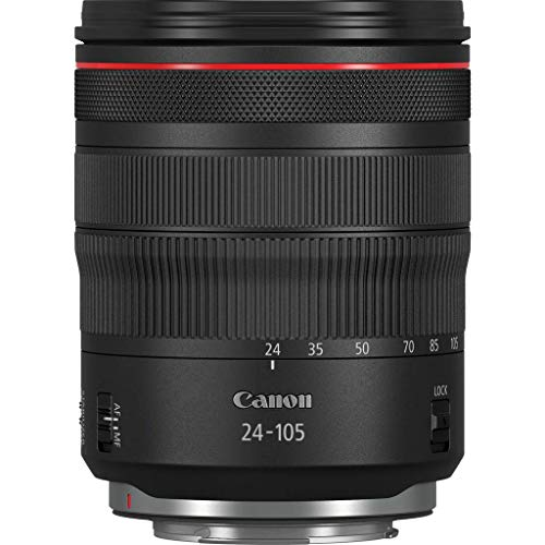 Canon - Objetivo RF 24-105mm f/4 L IS USM (Longitudes focales del Zoom de 24-105mm, Enfoque mínimo de 0,45 m) Negro