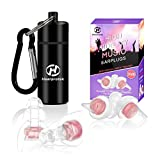 High Fidelity Music Ear plugs for Women, Hearprotek 20db Noise Reduction Earplugs-Hearing Protection
