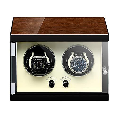 Soporte de reloj Reloj Windoer - Watch Automatic Weeker Winder Watch Mecanical Watch Pantalla Organizador de reloj de lujo Estuche de almacenamiento Toporte de almacenamiento Ultra-silencioso Reloj de