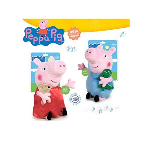 Playbyplay Pack Peluches Peppa Pig Y George con Sonido 25 CM