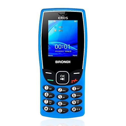 Brondi Eros telefono cellulare Azzurro