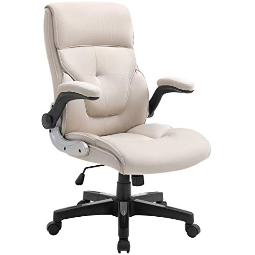 B2C2B Ergonomic Executive Office Chair Fabric Computer Desk Chair Adjustable Racing Chair Task Swivel Chair Armrest Thick Padding for Comfort and Ergonomic Design for Lumbar Support, Beige