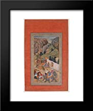 Islamic Art - 20x24 Framed Museum Art Print- Camp Being Prepared in The Hills, Folio from The Davis Album